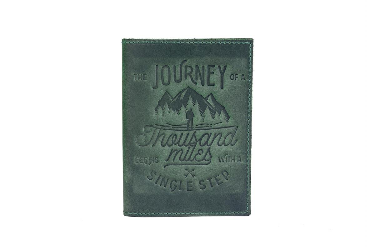 Обкладинка на паспорт 1000 миль зелена