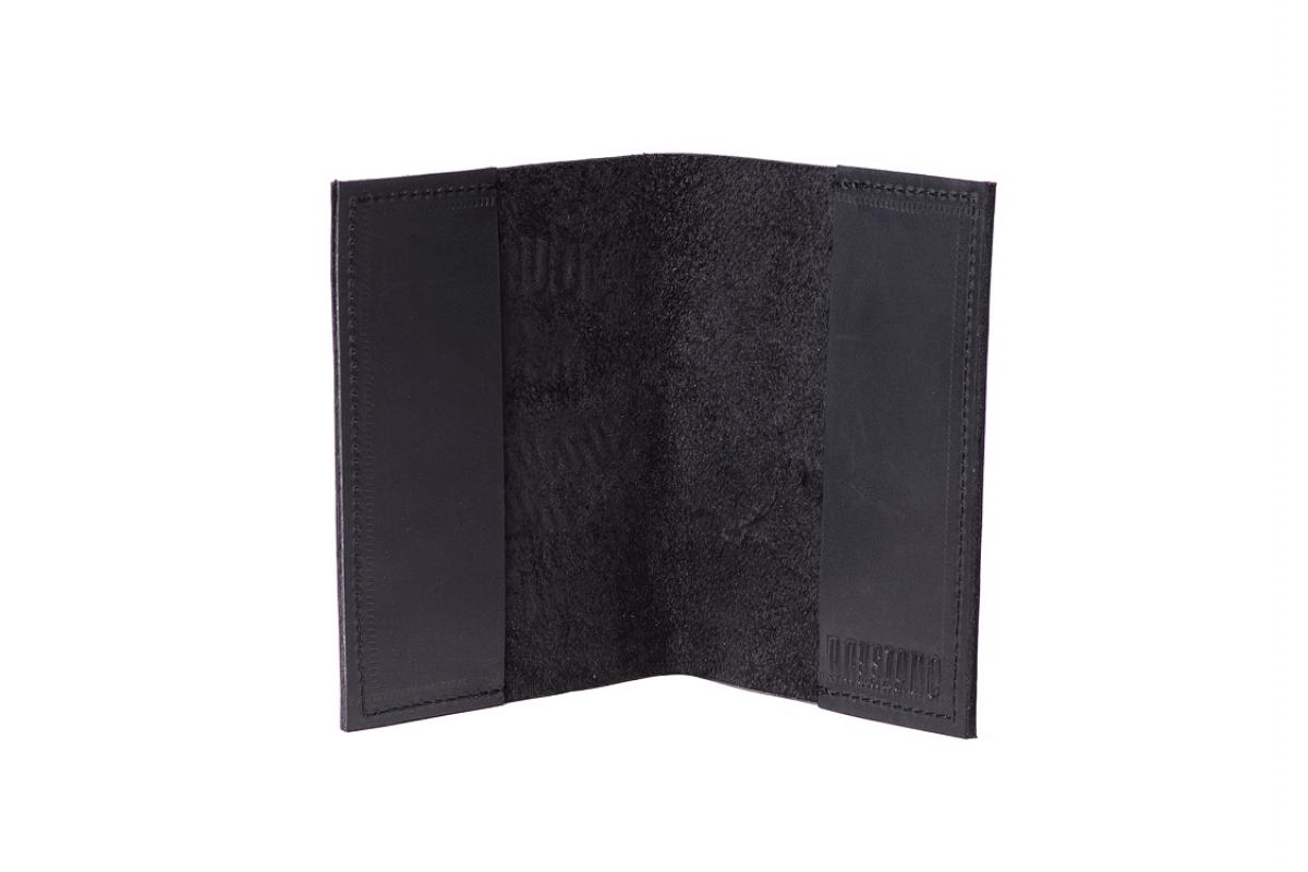 """Обложка для паспорта """"1000"""" миль черная"""