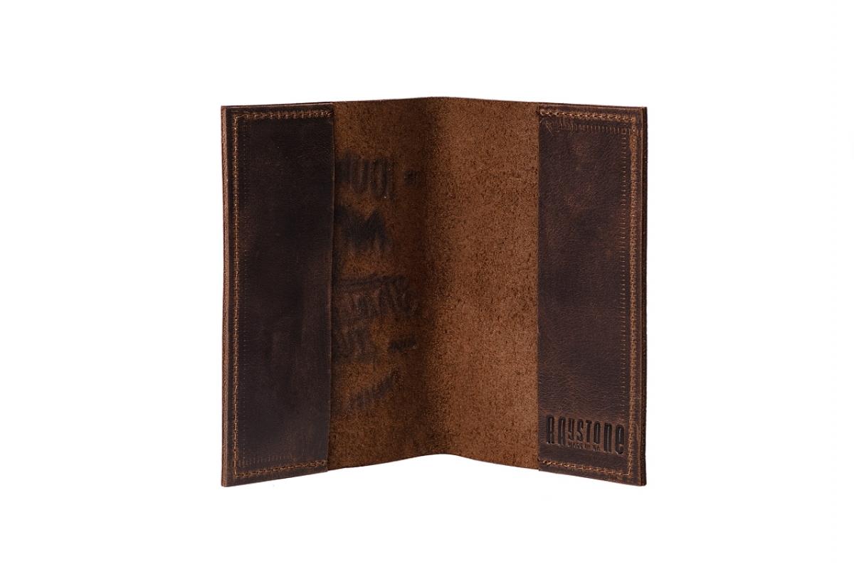 """Обложка для паспорта """"1000 миль"""" коричневая"""
