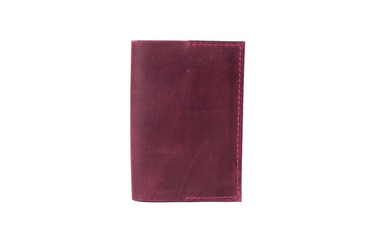 Обкладинка на паспорт бордова