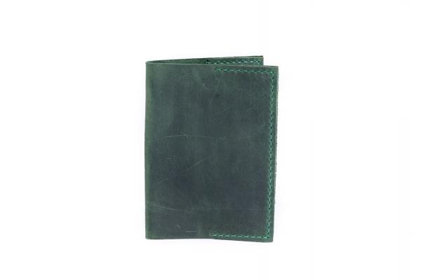 Обложка на паспорт зеленая