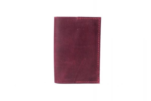Обложка на паспорт бордовая